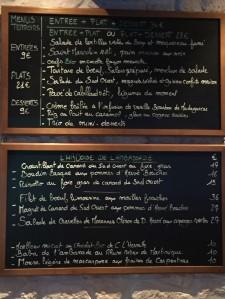 Ardoise menu