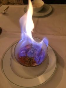 Dessrt flambé